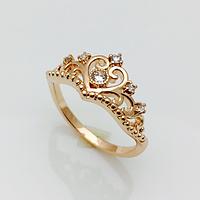 Кольцо корона принцессы, размер 20