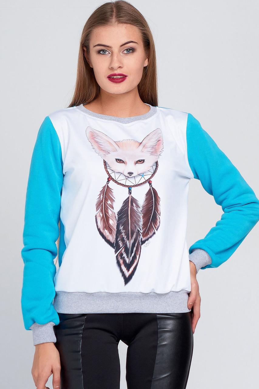 e9f08afc879 Теплый женский свитшот № 120 - 490 грн. Купить в Украине - интернет ...