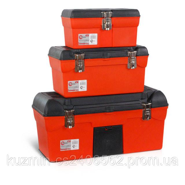 Комплект ящиков для инструментов с металлическим замком 3шт (BX-1113 BX-1116 BX-1123) INTERTOOL BX-0007