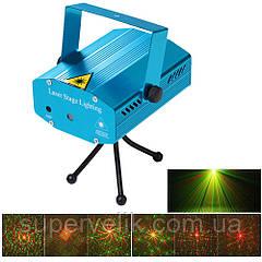 Мини лазерный проектор стробоскоп лазер шоу, лазерная установка