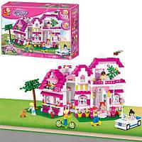 """Конструктор """"Розовая мечта.Загородный дом"""" M38-B0536 Sluban, 726 дет"""