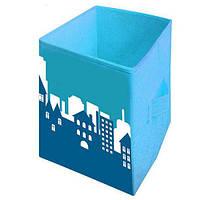 """Ящик для игрушек """"Пейзаж"""" HTKB-3535-006 Украинская Оселя, 35*35*55"""