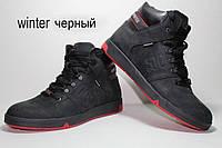 Зимние мужские кожаные  кроссовки спортивные ботинки Follamen Winter Black, фото 1