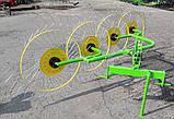 Грабли ворошилки на 4 кольца, фото 3