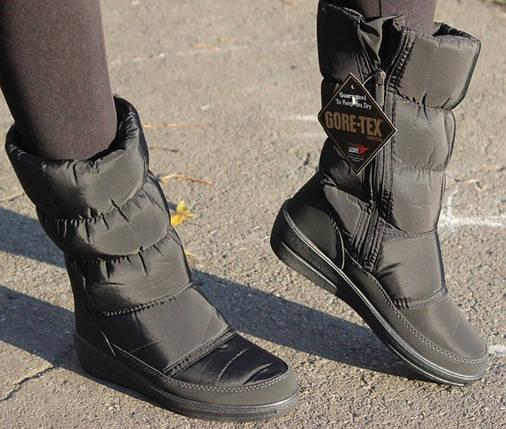 Женские зимние сапоги дутики с системой Gore-Tex (реальные фото), фото 2