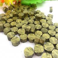 Сургуч порционный, таблетка, для печати декоративный, оливка