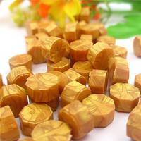 Сургуч порционный, таблетка, для печати декоративный, золото