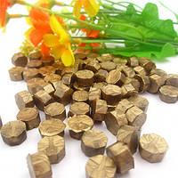 Сургуч порционный, таблетка, для печати декоративный, бронза