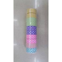Скотч декоративный бумажный 15ммх500см 6цветов с рисунком (08101-5) уп10