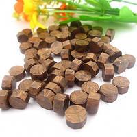 Сургуч порционный, таблетка, для печати декоративный, коричневый