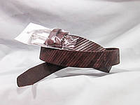 Ремень детский брючный, пряжка шпенек, натуральная кожа с узором, цвета разные, фото 1
