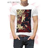 Крутая футболка мужская белая с рисунком Al Capone, фото 1