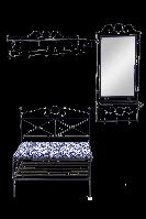 Набор кованой мебели для прихожей 2 (из 4-х предметов) 005/NAB2/1395