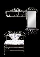 Набор кованой мебели для прихожей 4 (из 4-х предметов)