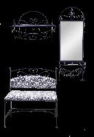 Набор кованой мебели для прихожей 3 (из 4-х предметов)