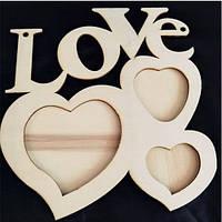 Деревянная рамка для фото «Сердце»