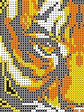 Авторская канва для вышивки бисером «Огненный тигр», фото 2