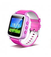 Оригинальные детские  часы Smart watch Q80 (Розовый)