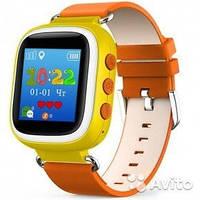 Оригинальные детские  часы Smart watch Q80 (Оранжевый)
