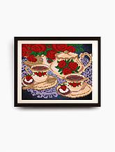 Авторская канва для вышивки бисером «Чайный сервиз»