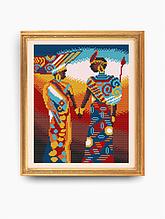 Авторская канва для вышивки бисером «Африка»