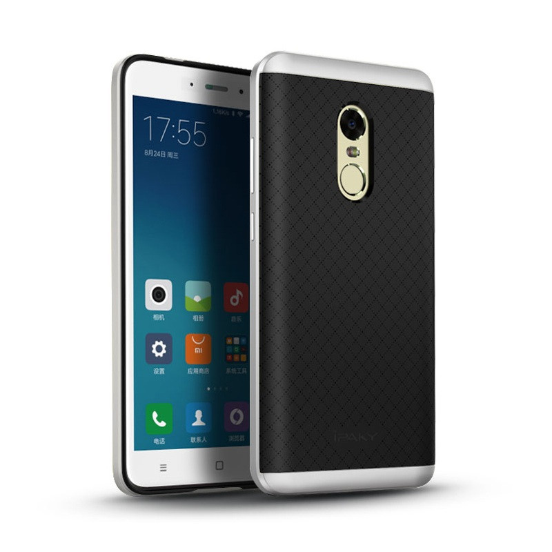Чехол Ipaky для Xiaomi Redmi Note 4x / Note 4 Global Version бампер оригинальный silver