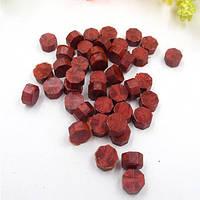 Сургуч порционный, таблетка, для печати декоративный, красное вино темное