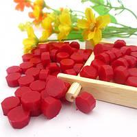 Сургуч порционный, таблетка, для печати декоративный, красный
