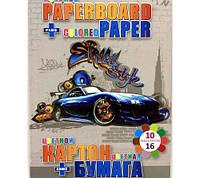 Картон цветной А4 +бумага 7555