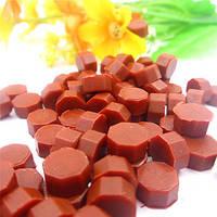 Сургуч порционный, таблетка, для печати декоративный, коричнево красное матовое