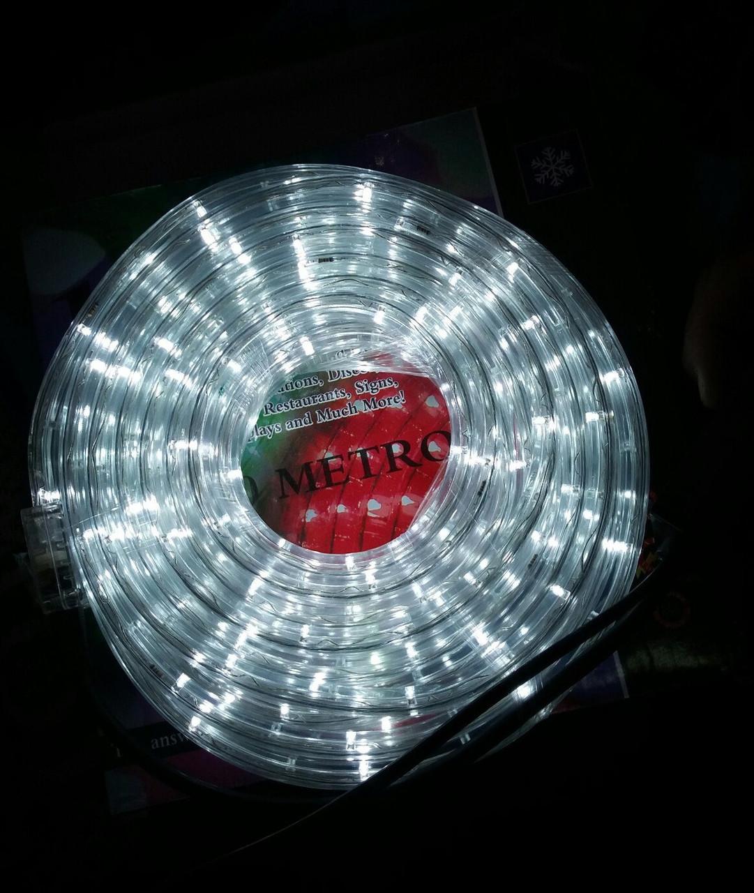 Гирлянда уличная лента светодиодная белая (LED) 10 м