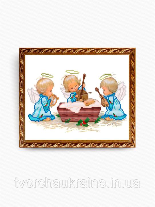 Авторская канва для вышивки бисером «С Рождением Мальчика!»