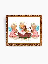 Авторская канва для вышивки бисером «С Рождением Девочки!»