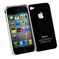Чехол-накладка для iPhone 4-4S черный - оптом по 5 грн