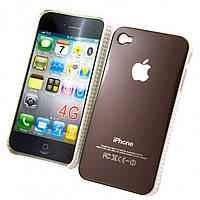 Чехол-накладка для iPhone 4-4S коричневый - оптом по 5 грн