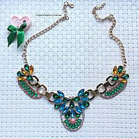 """Ожерелье """"Флоренсия"""" красивое, цветное."""