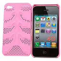 Чехол-накладка для iPhone 4-4S, сетка розовый  - оптом по 5 грн