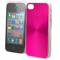 Чехол-накладка для iPhone 4-4S,Glamour розовый  - оптом по 5 грн