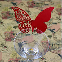 Декор для бокала — рассадочная карточка «Бабочка»