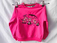 Батник детский оптом на 1-4 года с вышитой машинкой, разный цвет , фото 1