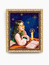 Авторская канва для вышивки бисером «Молитва перед сном»