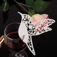 Декор для бокала — рассадочная карточка «Птица»