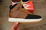 Кроссовки Nike Lunar Force 1 Duckboot brown без меха (Реплика ААА+), фото 5