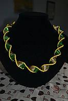 """Ожерелье """"ДНК"""" двухцветное"""