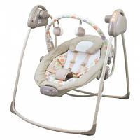 Детское кресло-качалка Alexis-Babymix SW108DOT-BM бежевая