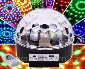 Светодиодный диско-шар LED Magic Ball MP3, Светомузыка Musik Ball MP-3