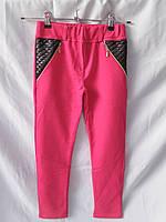 Детские лосины-брючки оптом для девочек, рост 140-176 см, карманы сзади, разный цвет