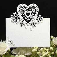 Банкетка — рассадочная карточка «Сердце»