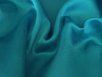Ткань Креп-сатин Голубая бирюза