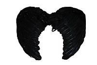 Крылья черные перьевые карнавальные 40 на 37 см